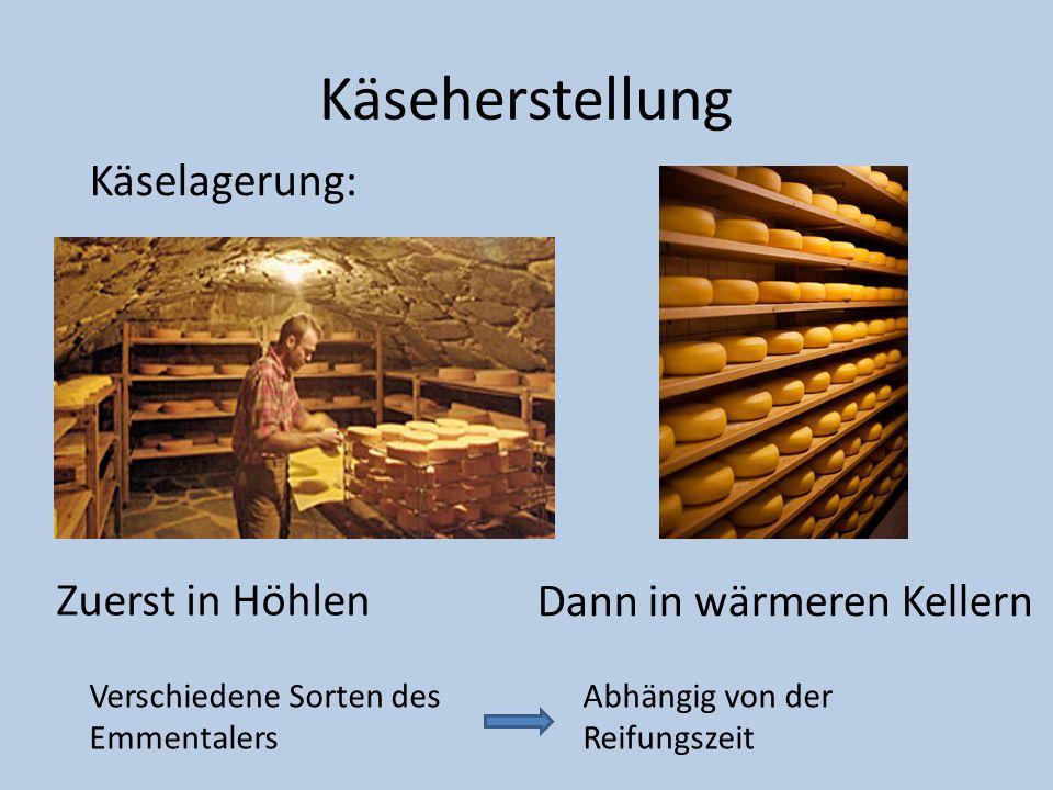 Käseherstellung Käselagerung: Zuerst in Höhlen