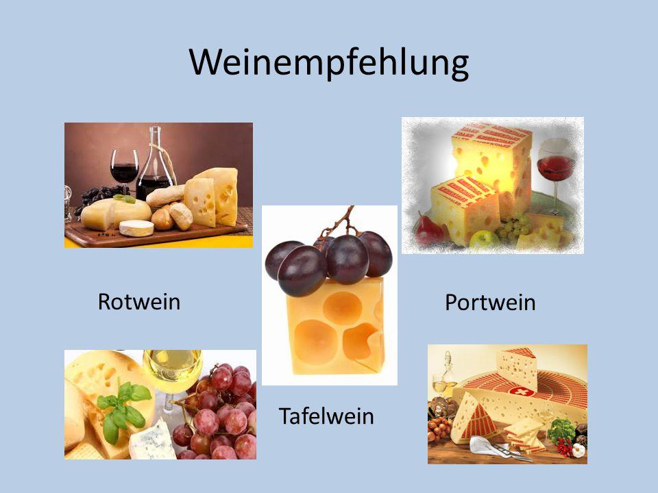 Weinempfehlung Rotwein Portwein Tafelwein