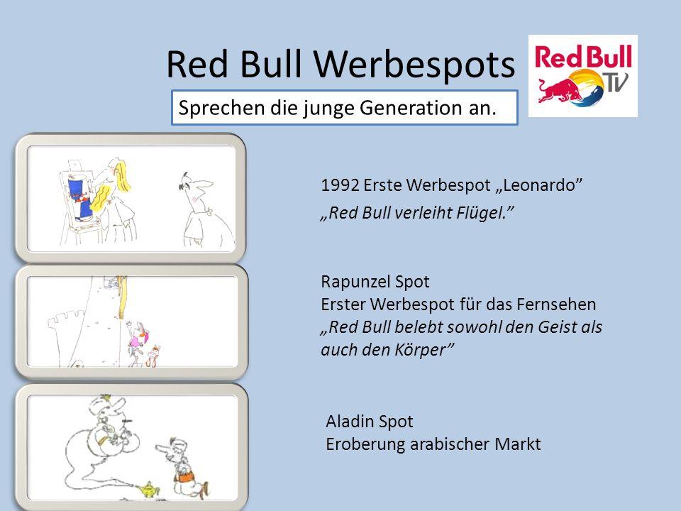 Red Bull Werbespots Sprechen die junge Generation an.