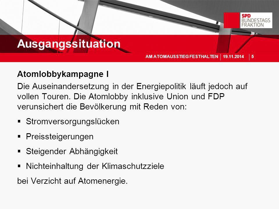 Ausgangssituation Atomlobbykampagne I