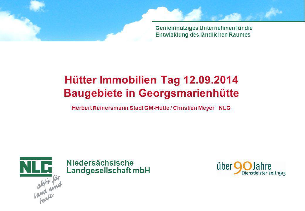Hütter Immobilien Tag 12.09.2014 Baugebiete in Georgsmarienhütte Herbert Reinersmann Stadt GM-Hütte / Christian Meyer NLG