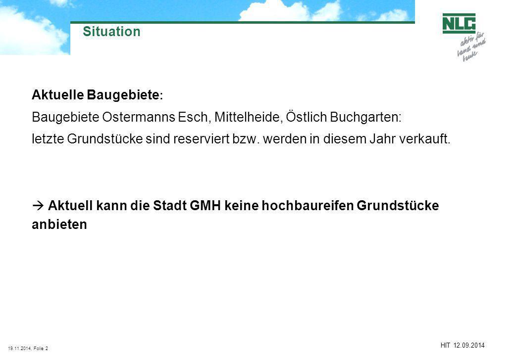 Baugebiete Ostermanns Esch, Mittelheide, Östlich Buchgarten:
