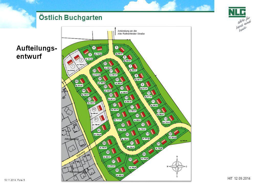 Östlich Buchgarten Aufteilungs- entwurf HIT 12.09.2014