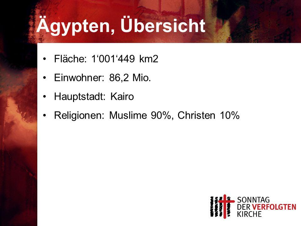 Ägypten, Übersicht Fläche: 1'001'449 km2 Einwohner: 86,2 Mio.