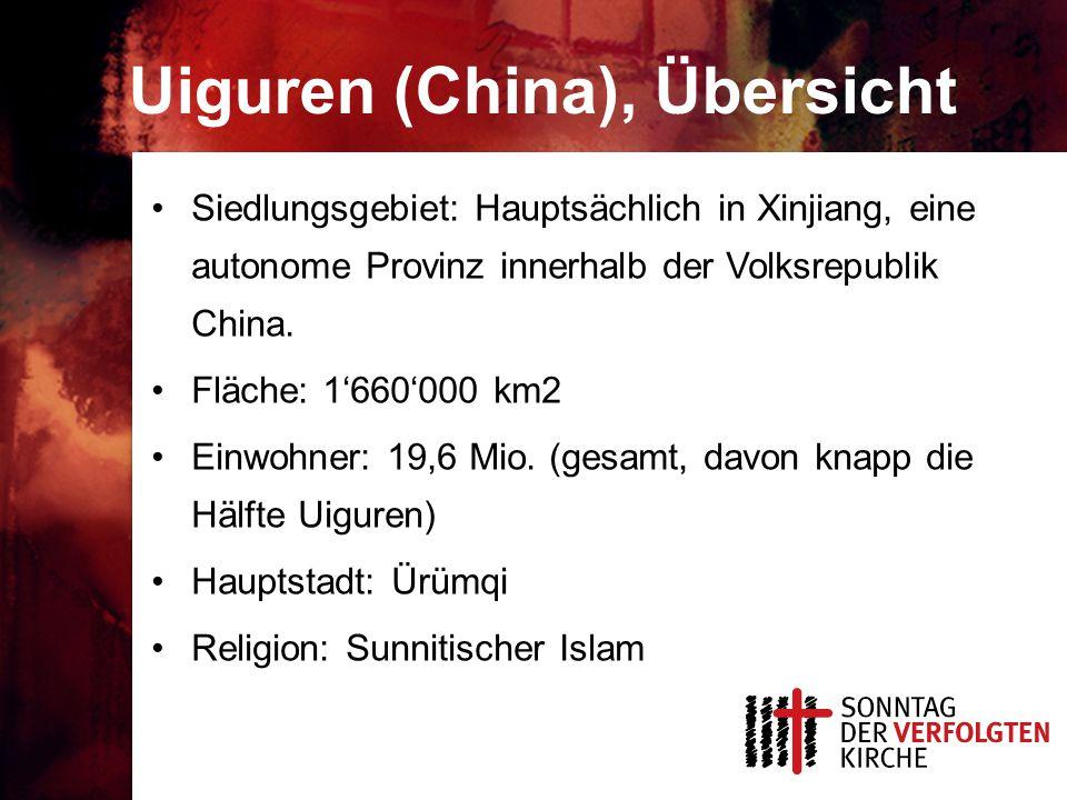 Uiguren (China), Übersicht
