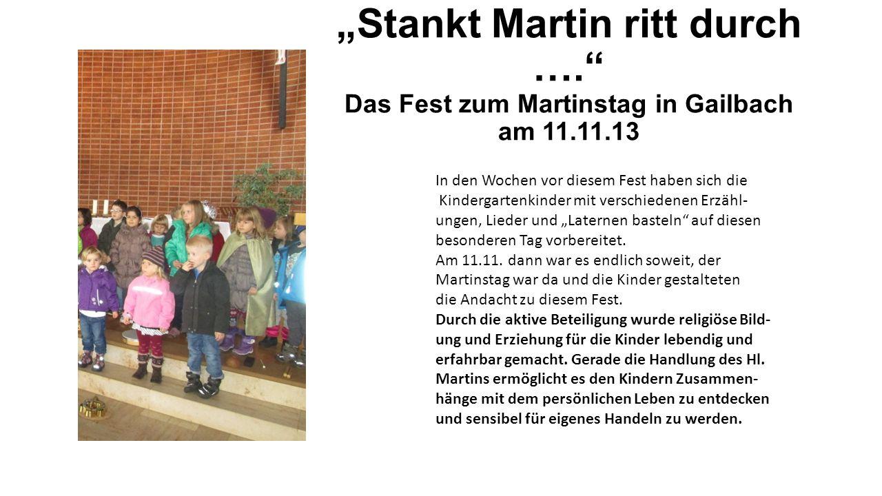 """""""Stankt Martin ritt durch …"""