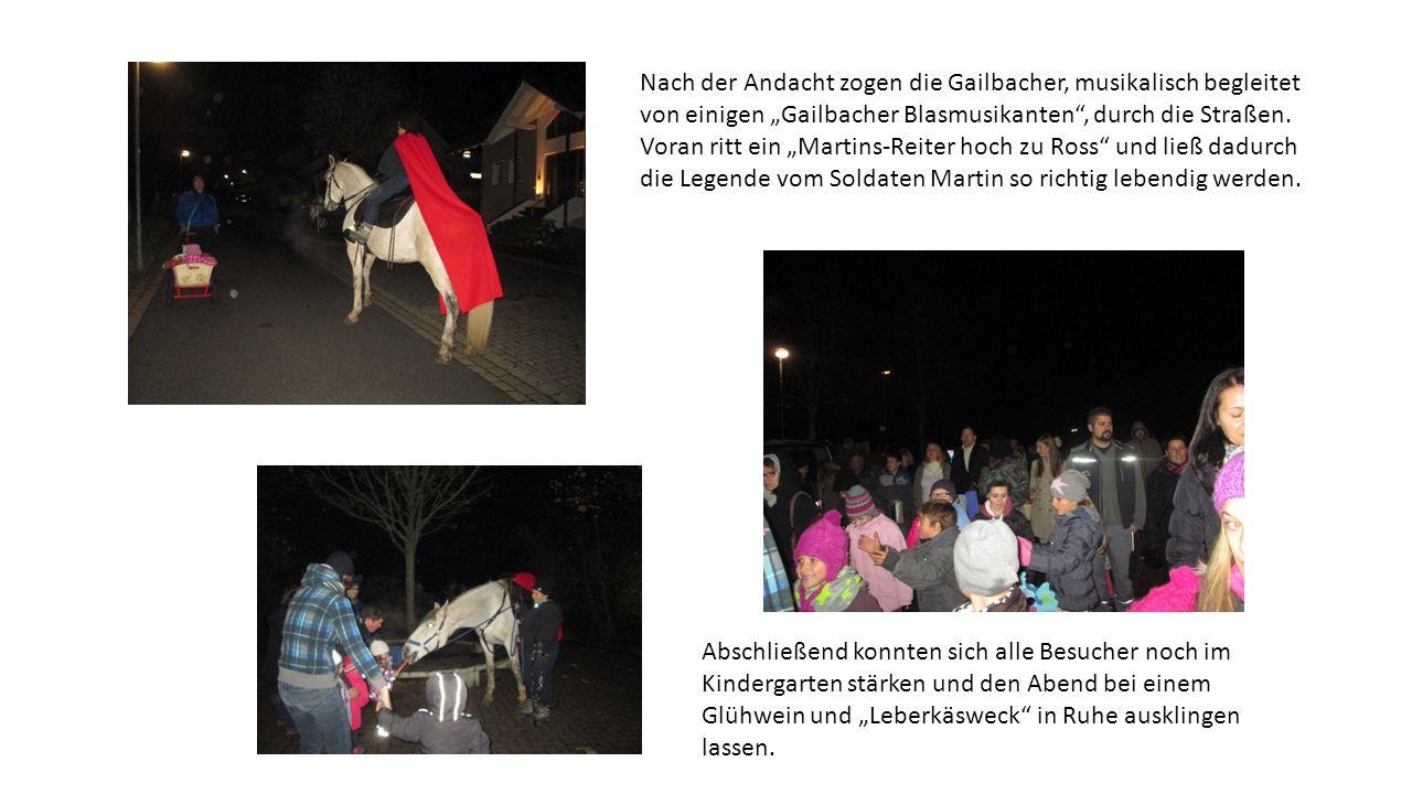 Nach der Andacht zogen die Gailbacher, musikalisch begleitet