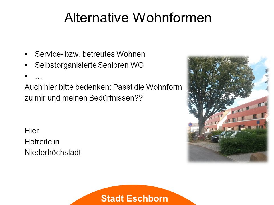 Alternative Wohnformen