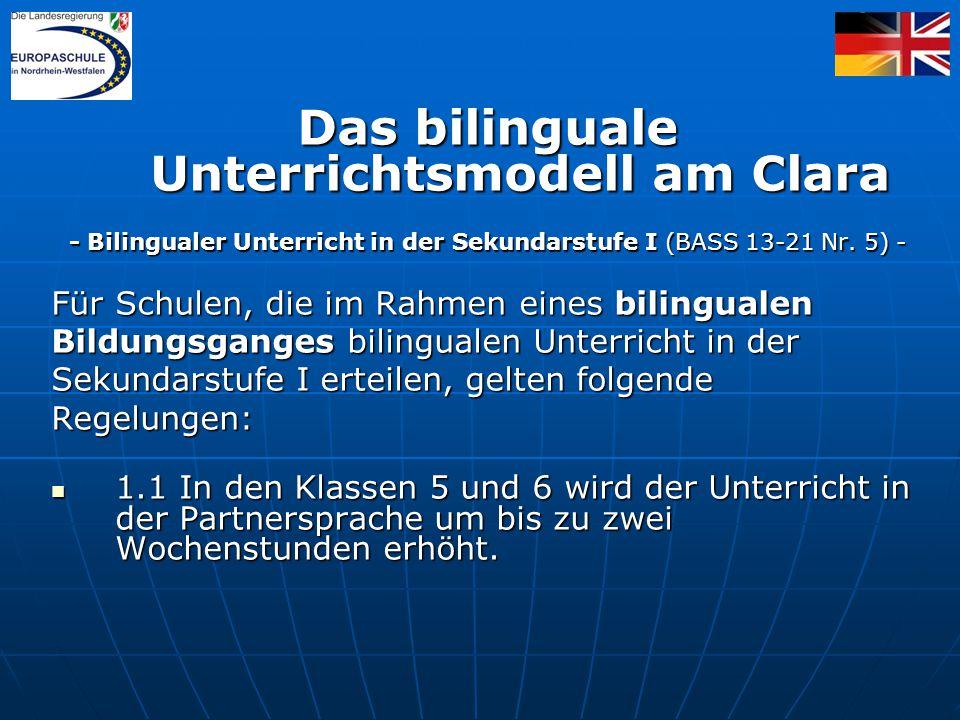 Das bilinguale Unterrichtsmodell am Clara