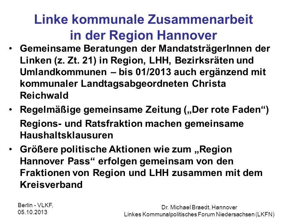 Linke kommunale Zusammenarbeit in der Region Hannover