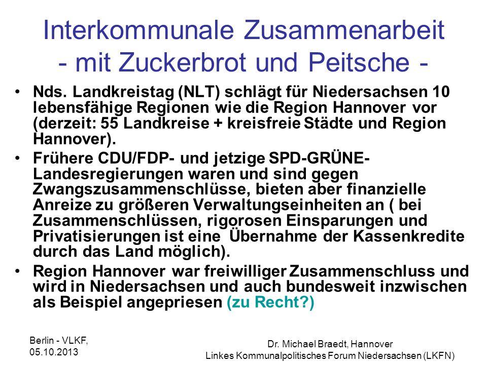 Interkommunale Zusammenarbeit - mit Zuckerbrot und Peitsche -