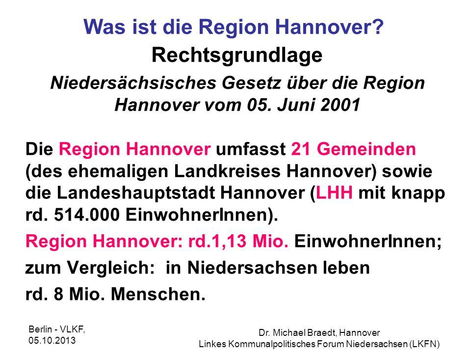 Was ist die Region Hannover