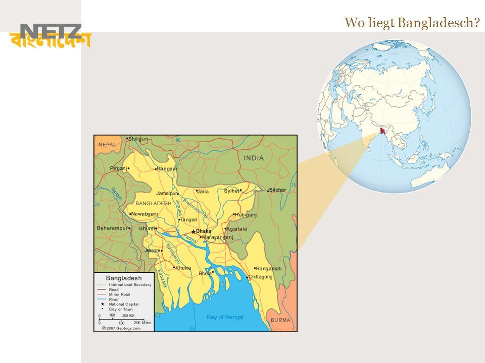 Wo liegt Bangladesch