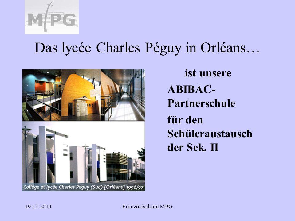 Das lycée Charles Péguy in Orléans…