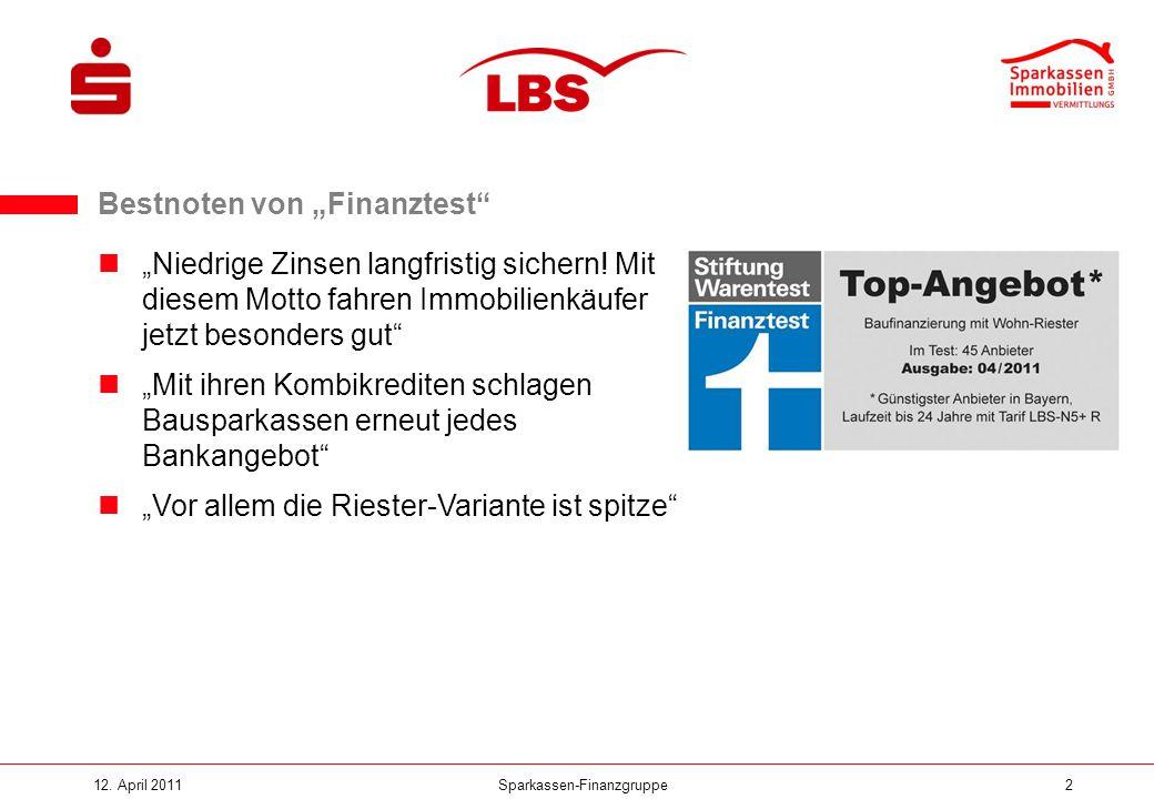 """Bestnoten von """"Finanztest"""