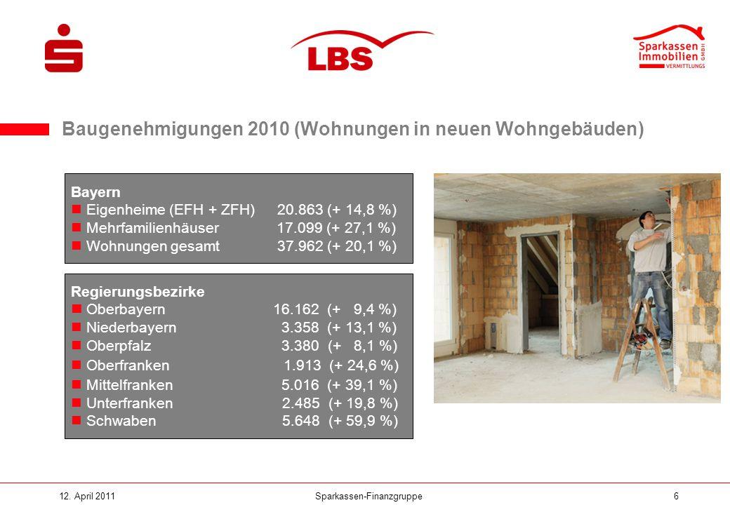 Baugenehmigungen 2010 (Wohnungen in neuen Wohngebäuden)
