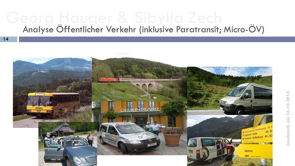 Analyse Öffentlicher Verkehr (inklusive Paratransit; Micro-ÖV)