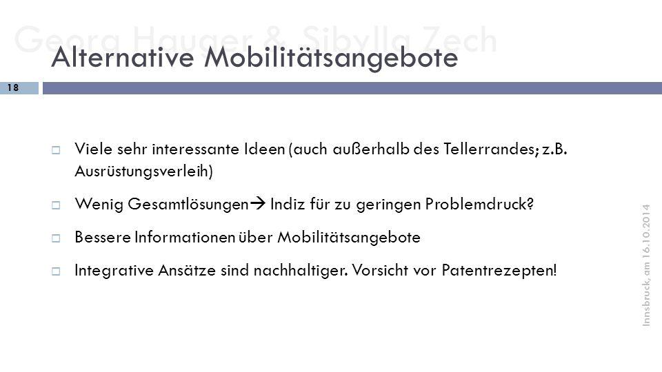 Alternative Mobilitätsangebote