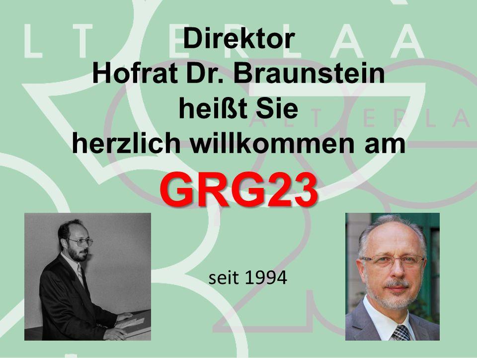 herzlich willkommen am GRG23