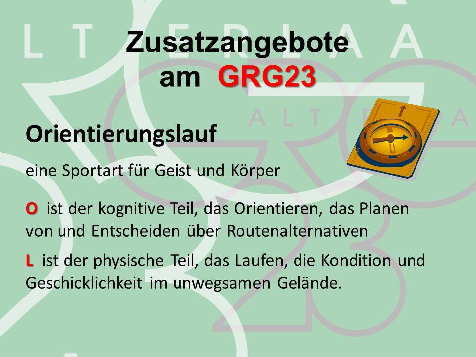 Zusatzangebote am GRG23 Orientierungslauf
