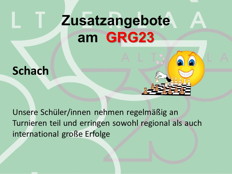 Zusatzangebote am GRG23 Schach