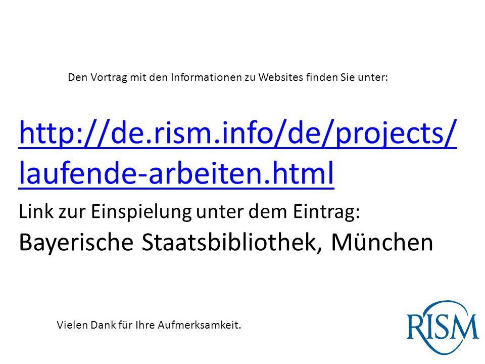 Den Vortrag mit den Informationen zu Websites finden Sie unter:
