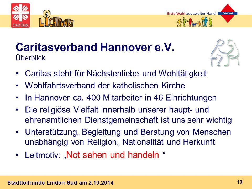 Caritasverband Hannover e.V. Überblick