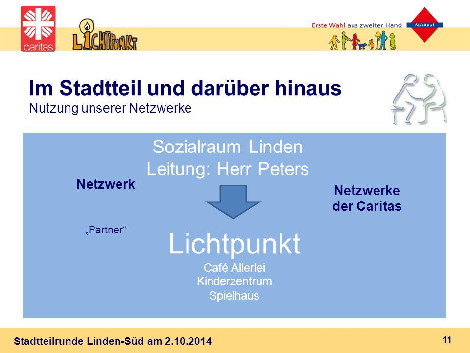 Im Stadtteil und darüber hinaus Nutzung unserer Netzwerke
