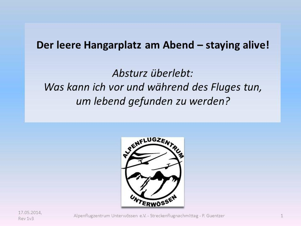 Der leere Hangarplatz am Abend – staying alive!