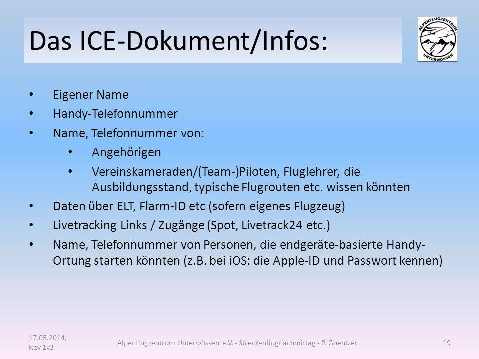 Das ICE-Dokument/Infos: