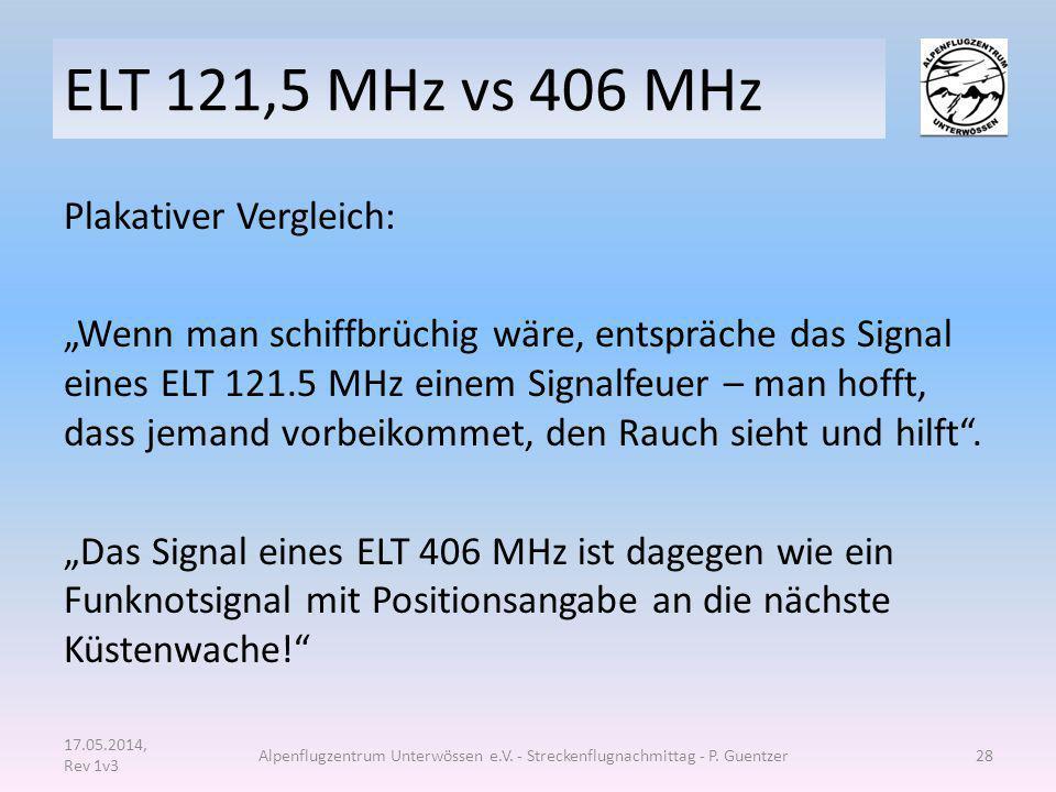 ELT 121,5 MHz vs 406 MHz