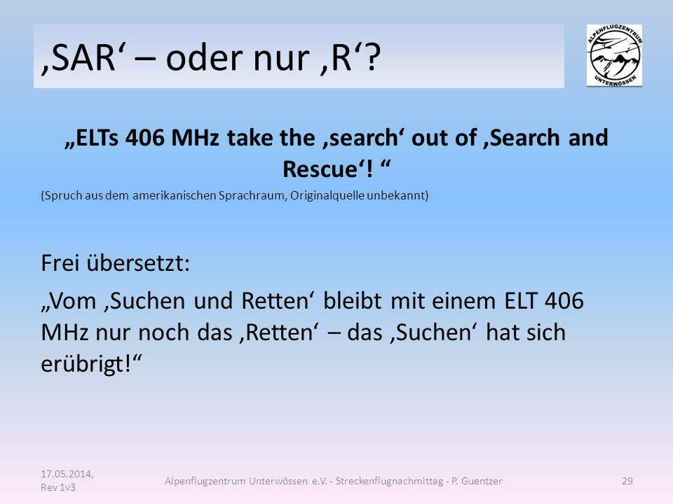 """ELTs 406 MHz take the 'search' out of 'Search and Rescue'!"