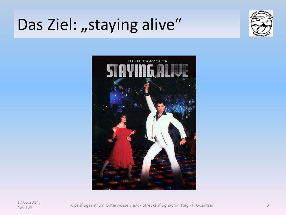 "Das Ziel: ""staying alive"