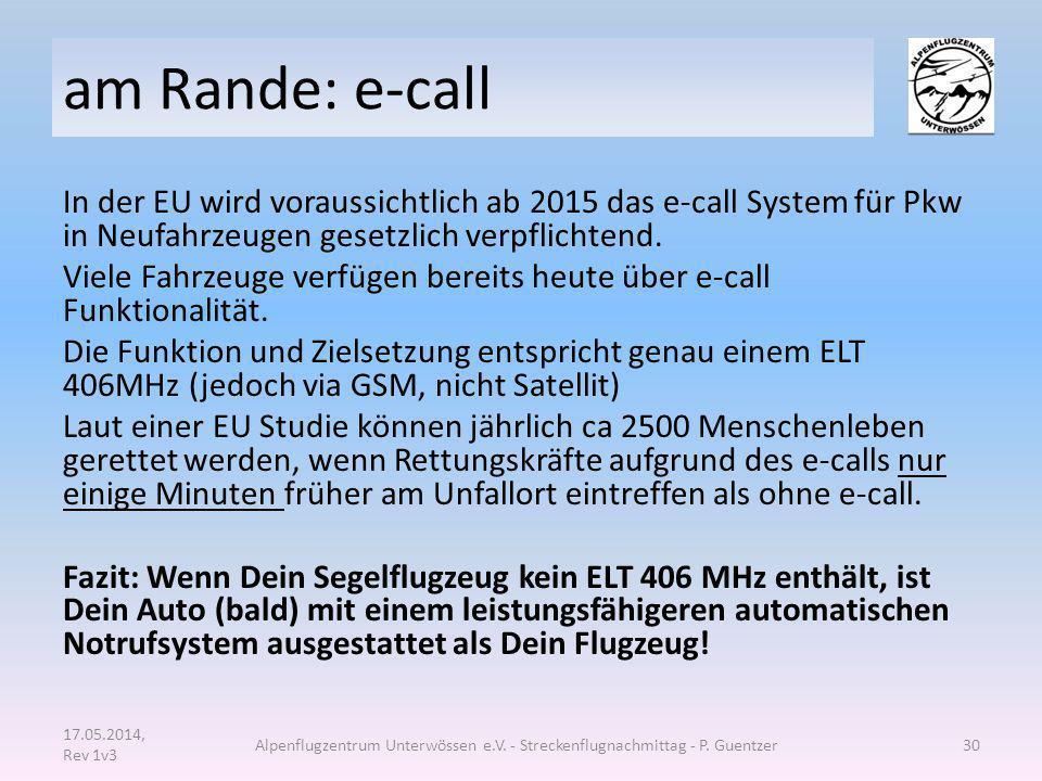 am Rande: e-call