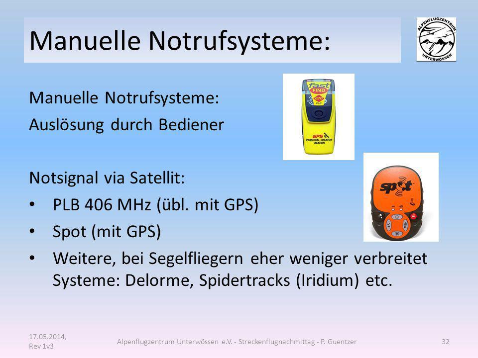 Manuelle Notrufsysteme: