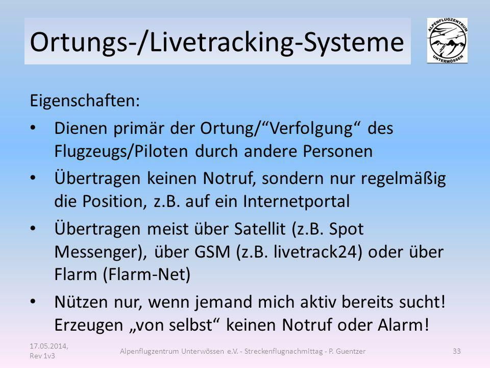Ortungs-/Livetracking-Systeme