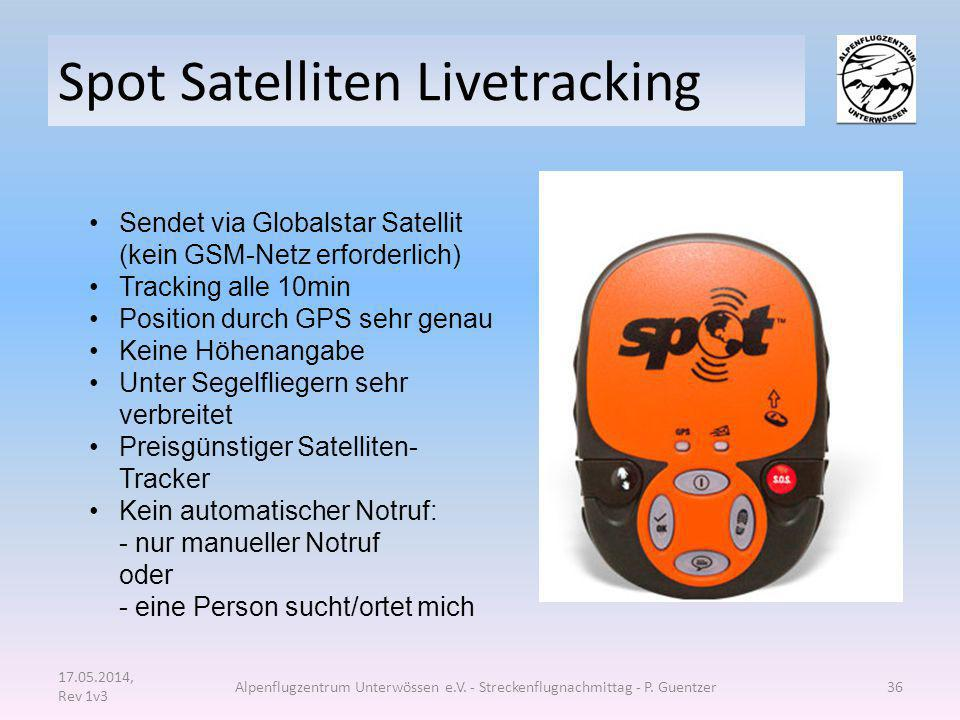 Spot Satelliten Livetracking