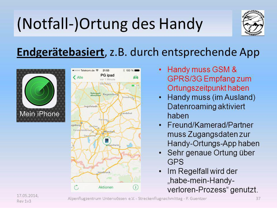 (Notfall-)Ortung des Handy