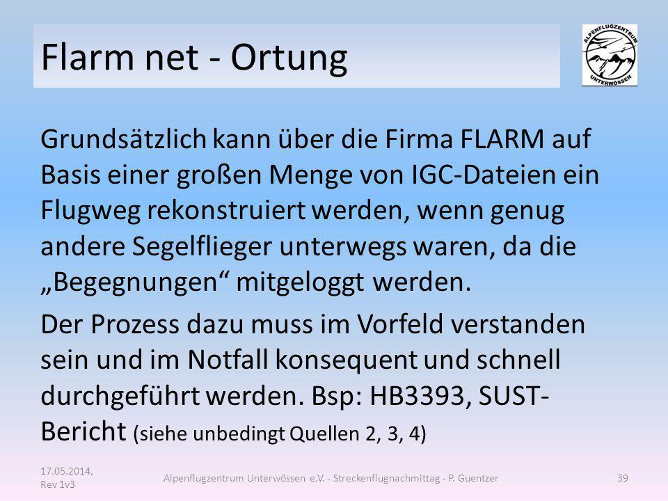 Flarm net - Ortung