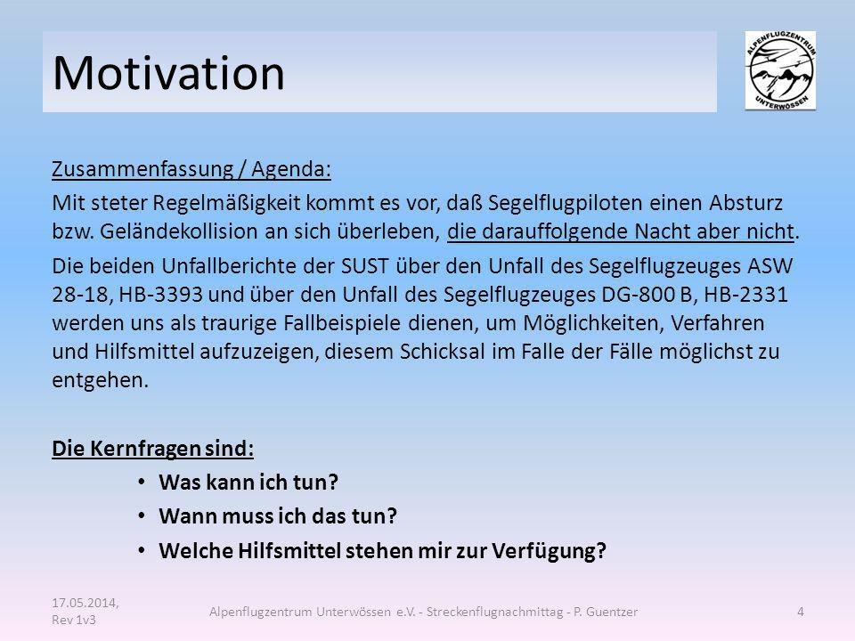 Motivation Zusammenfassung / Agenda: