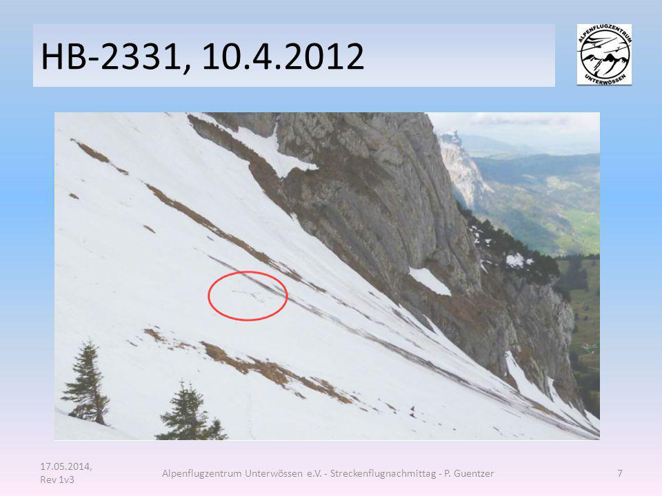 HB-2331, 10.4.2012 17.05.2014, Rev 1v3. Alpenflugzentrum Unterwössen e.V.