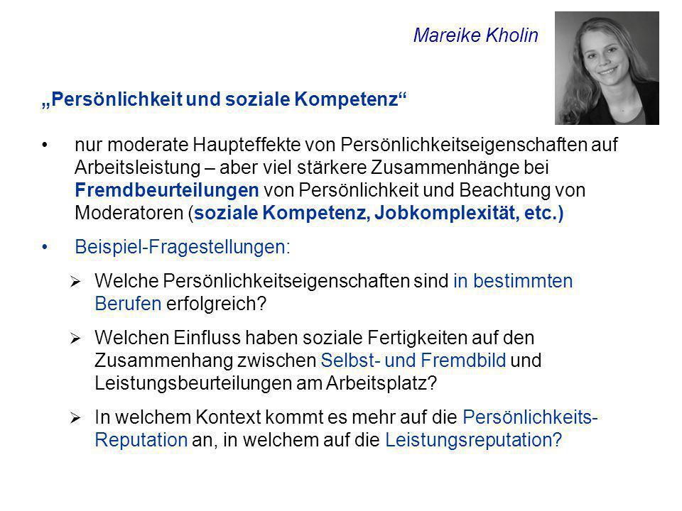"""Mareike Kholin """"Persönlichkeit und soziale Kompetenz"""