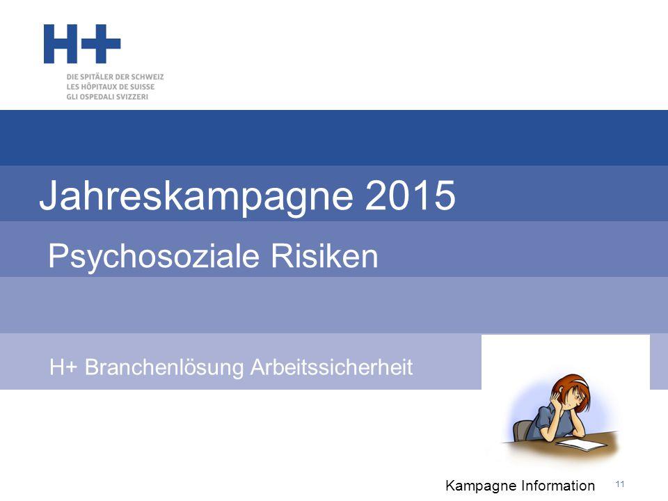 Jahreskampagne 2015 Psychosoziale Risiken