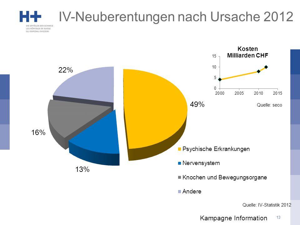 IV-Neuberentungen nach Ursache 2012