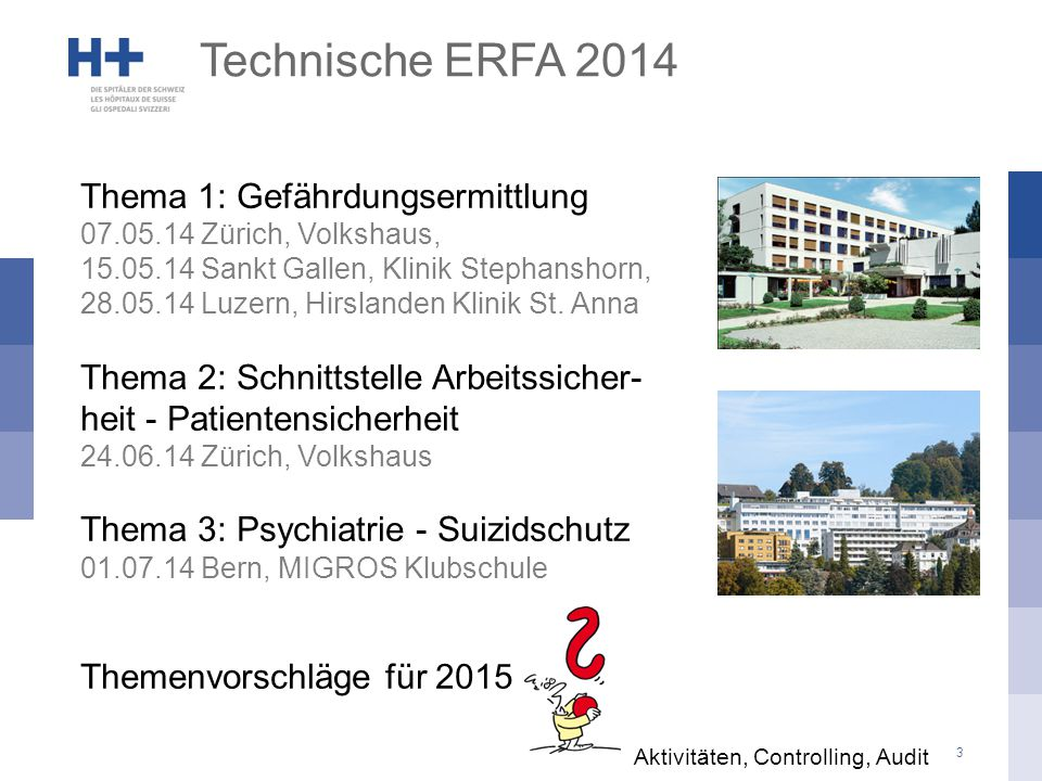 Technische ERFA 2014 Thema 1: Gefährdungsermittlung