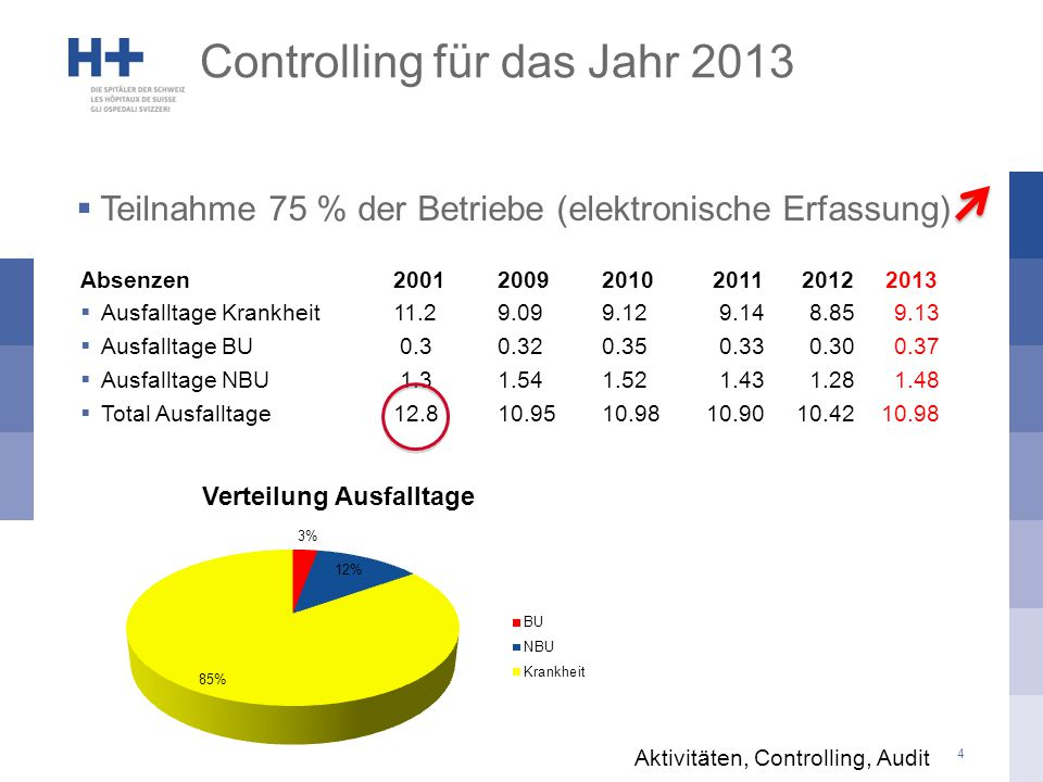 Controlling für das Jahr 2013