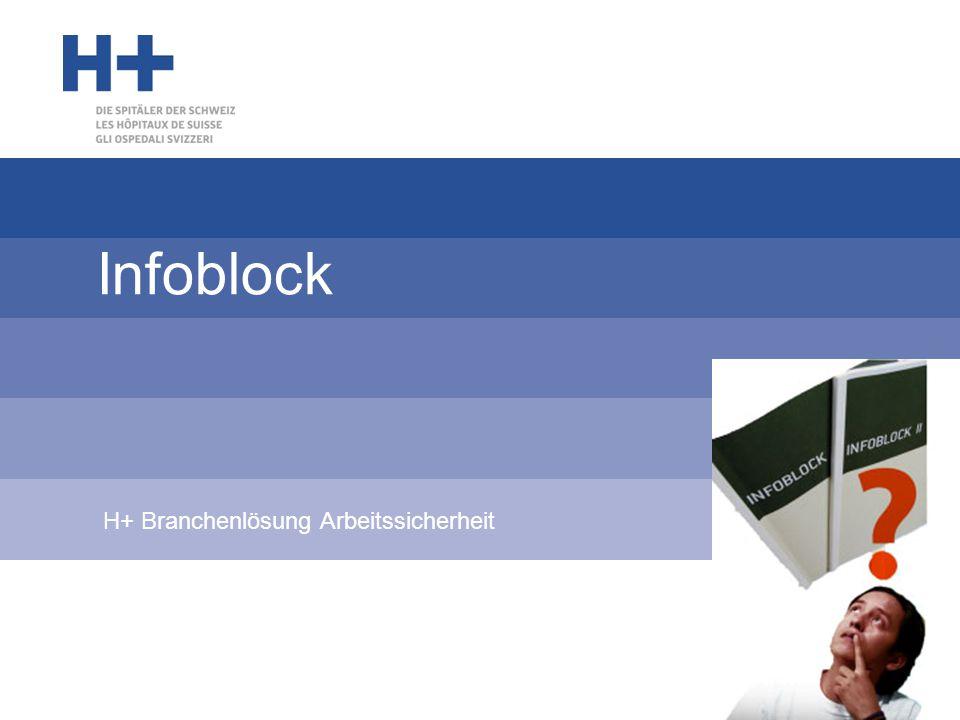 Infoblock H+ Branchenlösung Arbeitssicherheit