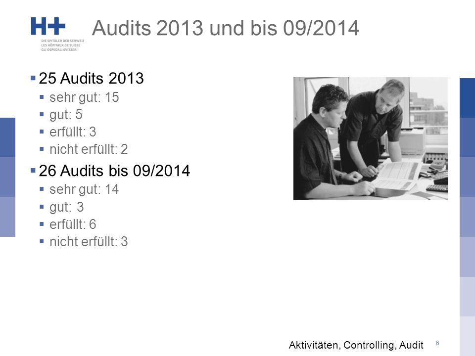 Audits 2013 und bis 09/2014 25 Audits 2013 26 Audits bis 09/2014