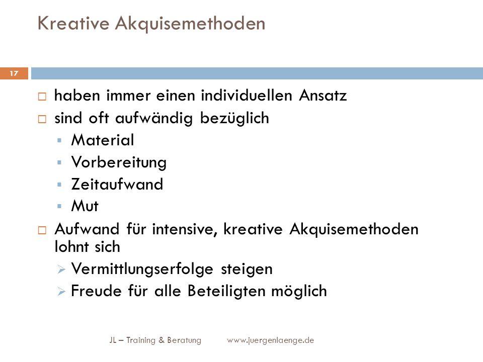 Kreative Akquisemethoden