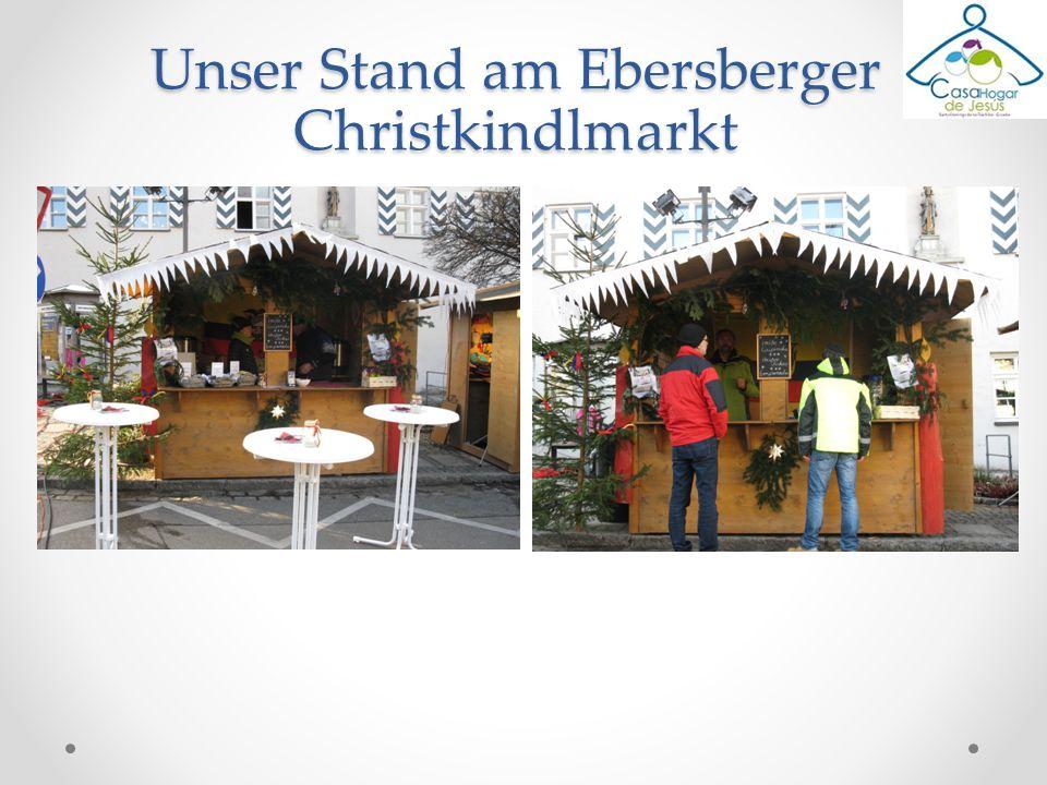 Unser Stand am Ebersberger Christkindlmarkt